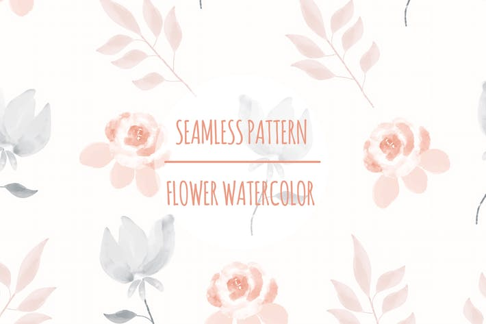 Thumbnail for Flower Watercolor – Seamless Pattern