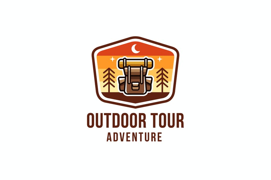 Outdoor Tour Adventure Logo Template