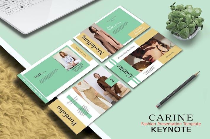 Thumbnail for CARINE FASHION - Keynote Template