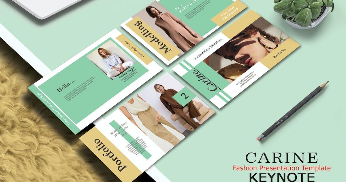 Download CARINE FASHION - Keynote Template by joelmaker