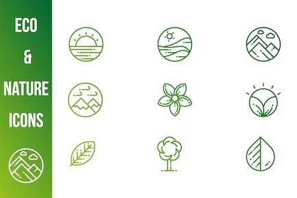 Grüne und NaturIcons