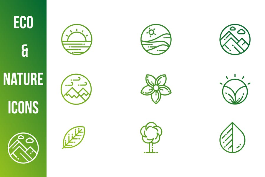 Green and Nature Icons