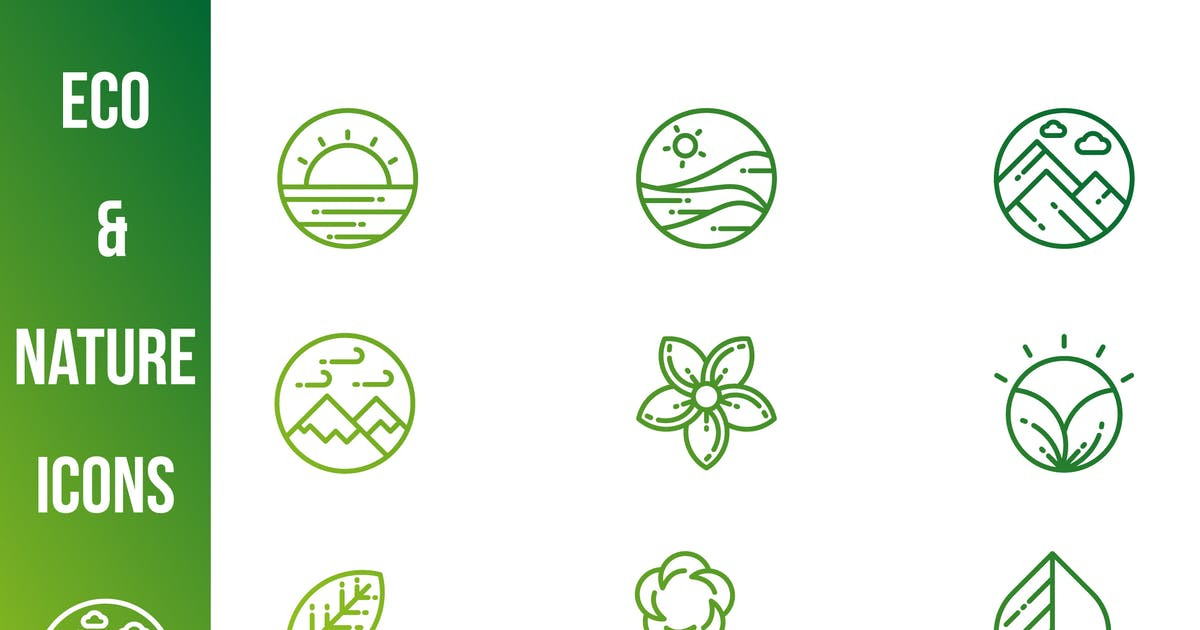 Download Green and Nature Icons by 3ab2ou