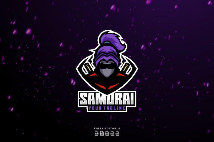 Thumbnail for Mascote Samurai Ninja Japão Esport