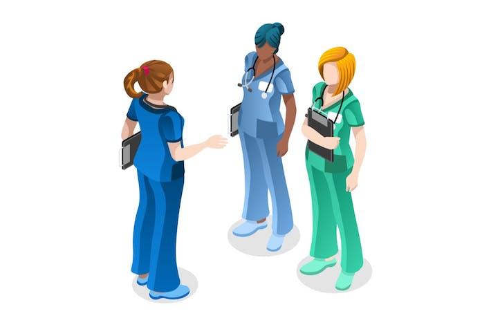 Doctor Consult Concept Helfer Frau