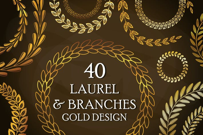 Thumbnail for 40 Gold Laurels and Branches