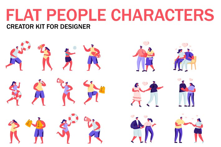 Cover Image For Flat People Character Creator Kit