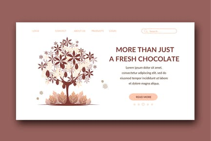 chocolate landing page template