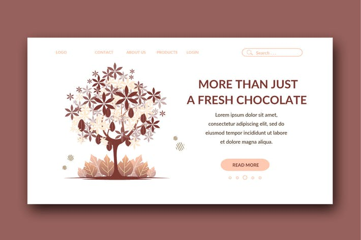 Thumbnail for Schokoladen-ZielseitVorlage