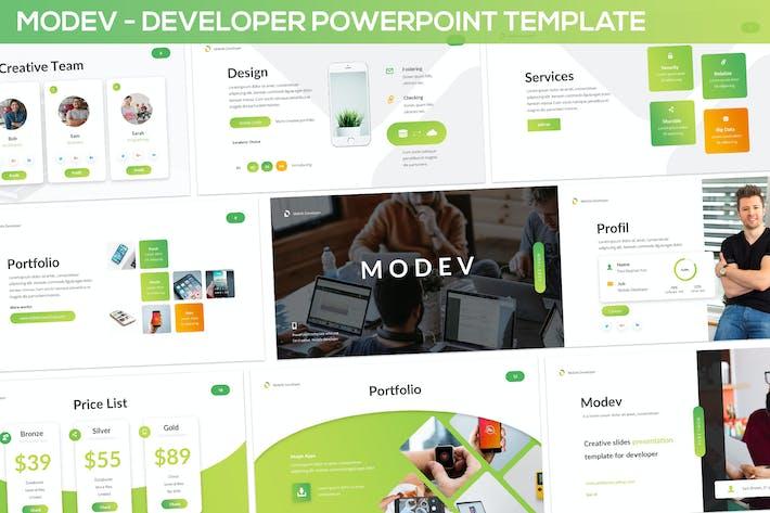 Thumbnail for Modev Powerpoint - Developer Presentation Template