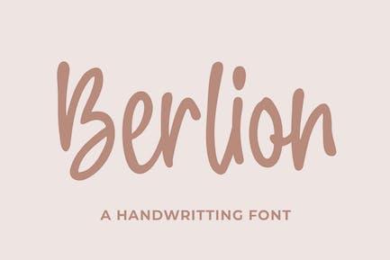 Berlion a Beauty Handwritting Business Font