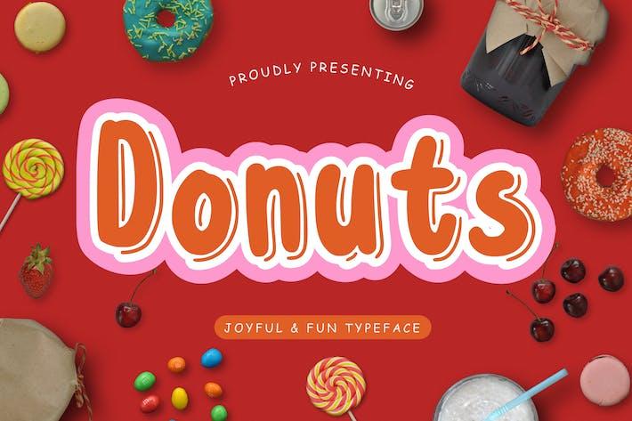 Thumbnail for Donuts Joyful & Fun Typeface