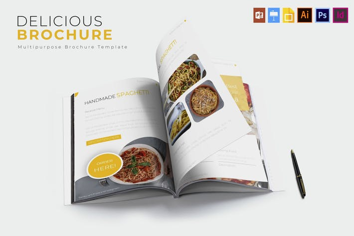 Délicieux   Modèle de brochure