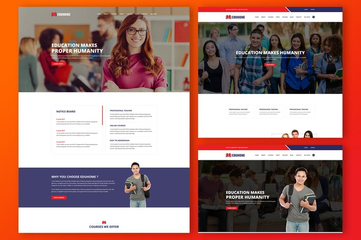 Thumbnail for Eduhome - Education HTML Template