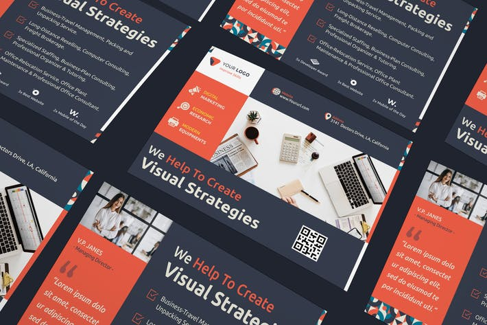 Thumbnail for Corporate, Business Postcard PSD Template
