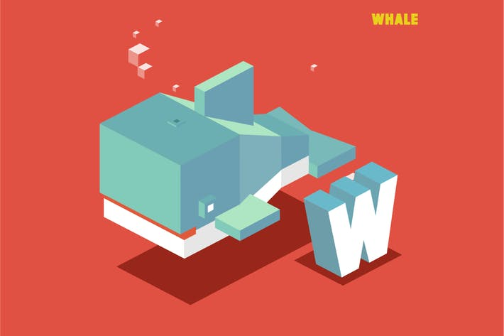 Thumbnail for W for whale. Animal Alphabet