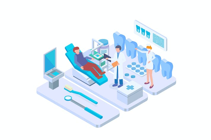 Thumbnail for Dental Healthcare Isometric Vector