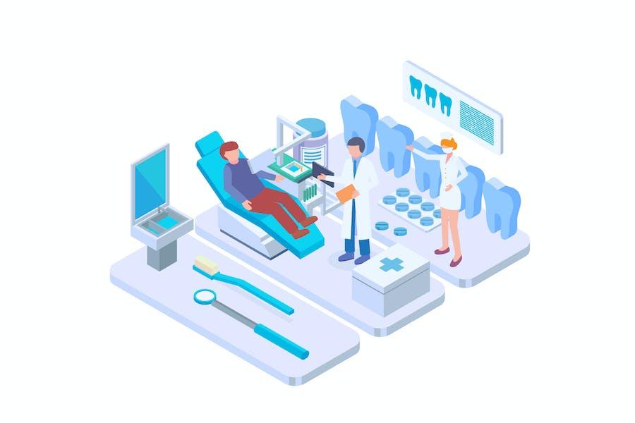 Dental Healthcare Isometric Vector