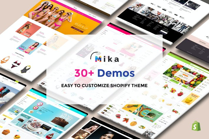 Cover Image For Mika - Multipurpose Sectioned Shopify Theme
