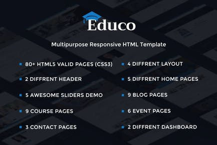 Educo - Elearning, Education Html Template