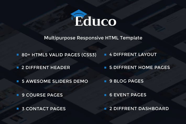 Thumbnail for Educo - Elearning, Education Html Template