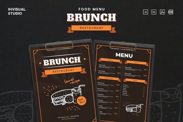 Brunch Restourant - Food Menu