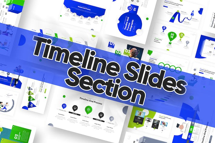 Thumbnail for Timeline Slide Powerpoint Template