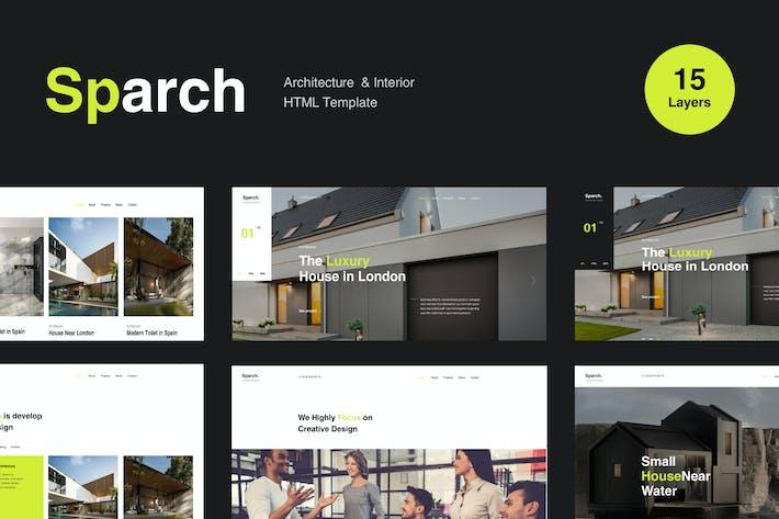 Thumbnail for Sparch - Architecture & Intérieur HTML Modèle