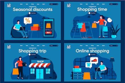 Modèle de page d'accueil Concept de temps d'achat