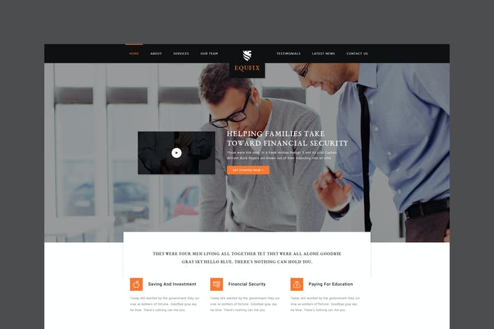 Thumbnail for Equfix - Financial Services PSD Template