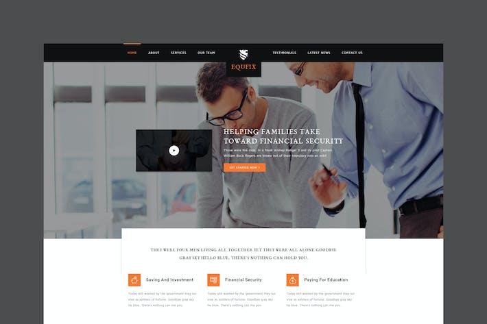 Equfix - Financial Services PSD Template