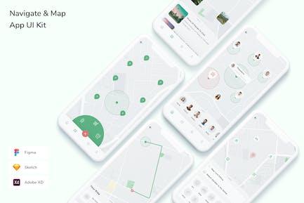 Map & Navigation App UI Kit
