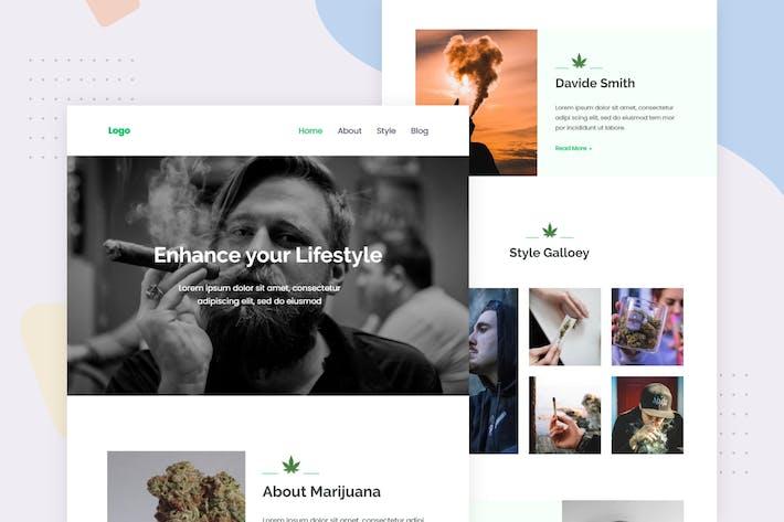 Thumbnail for Marijuana life style - Email Newsletter
