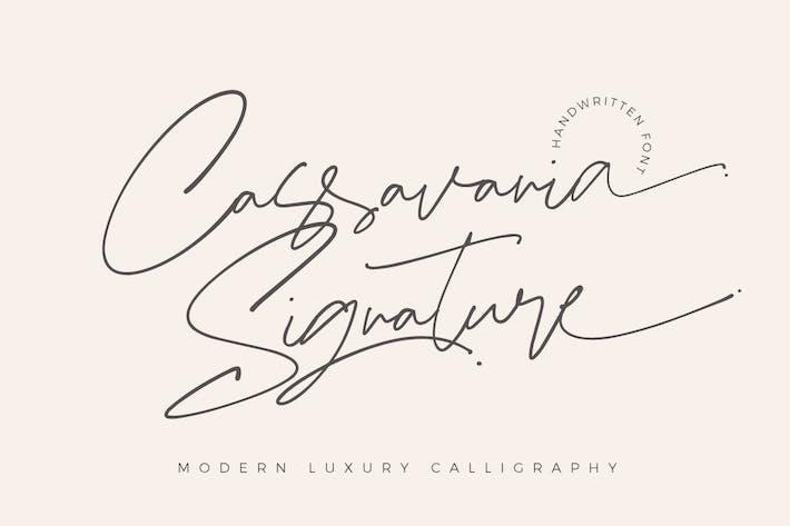 Thumbnail for Cassavania Signature Font Elegant