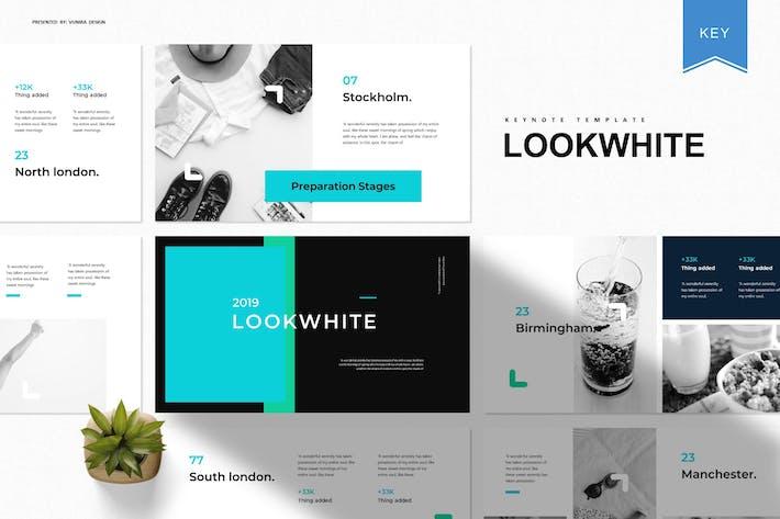 Thumbnail for Lookwhite | Keynote Template