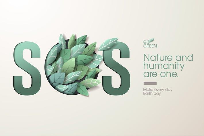 Thumbnail for Nature web banner concept design