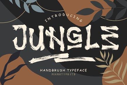 Jungle Handbrush Instagram Font