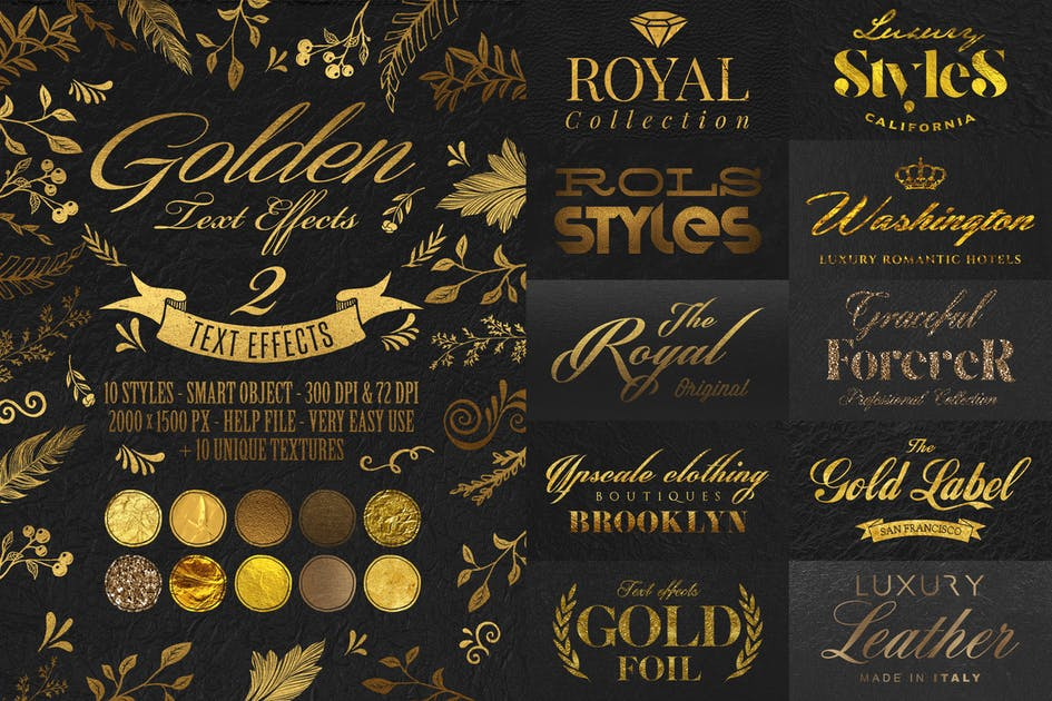 Download Gold Text Effects by HyperPix