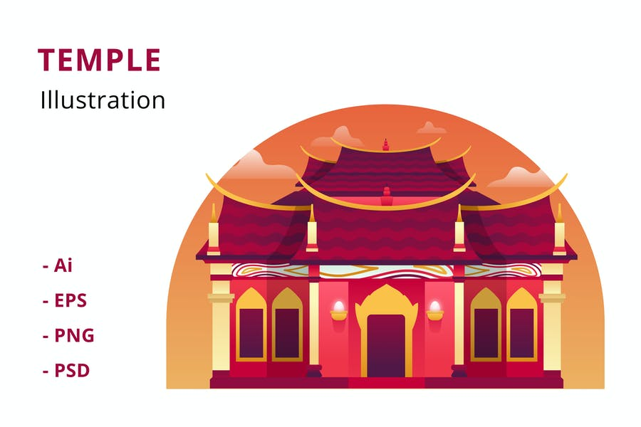 Temple Illustration
