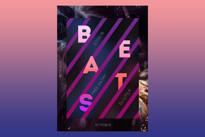 Thumbnail for Beats Music Flyer Poster