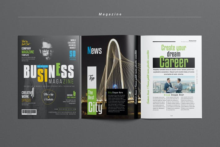 Thumbnail for Business/Multipurpose Magazine Template