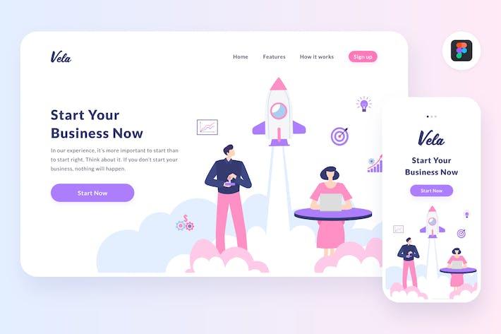 Cover Image For Startup illustration (Figma, SVG)