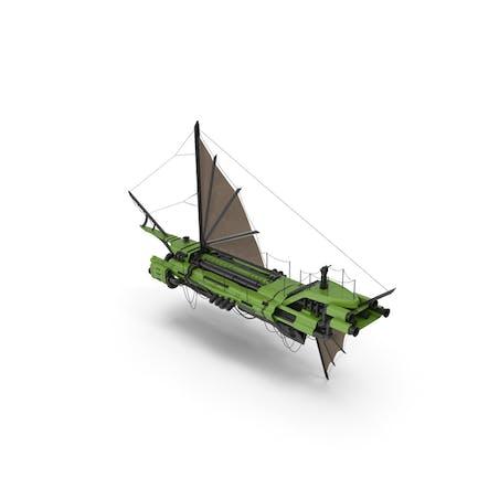 Flying Ship Green