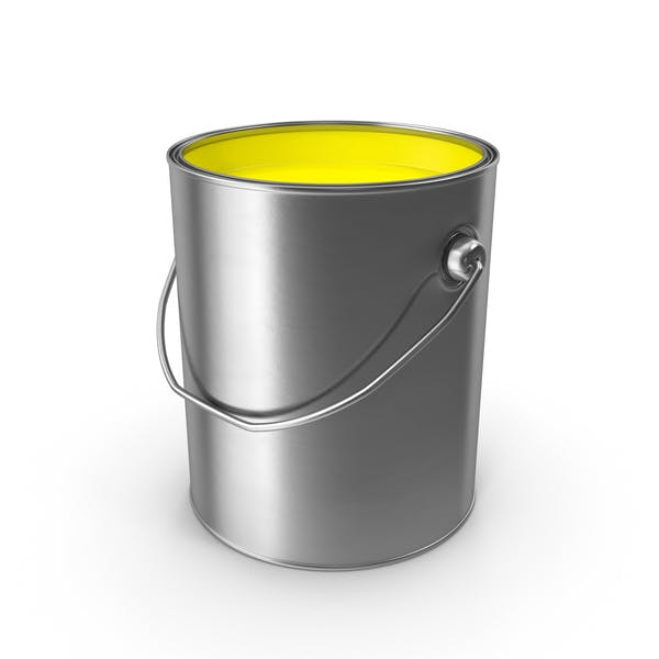 Yellow Metal Paint Can
