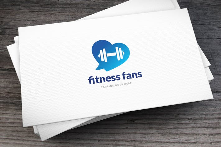 Thumbnail for Fitness Fans Logo Template