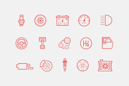 15 Automobile and Car Icons