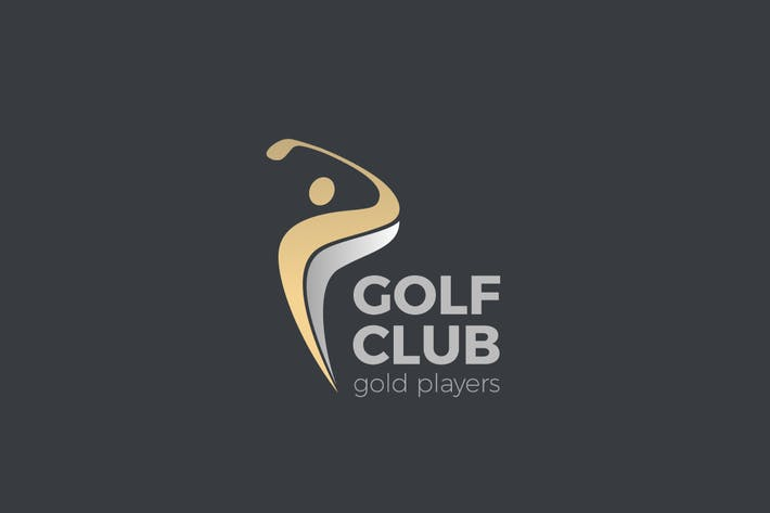 Thumbnail for Logo Golf club Player hits ball