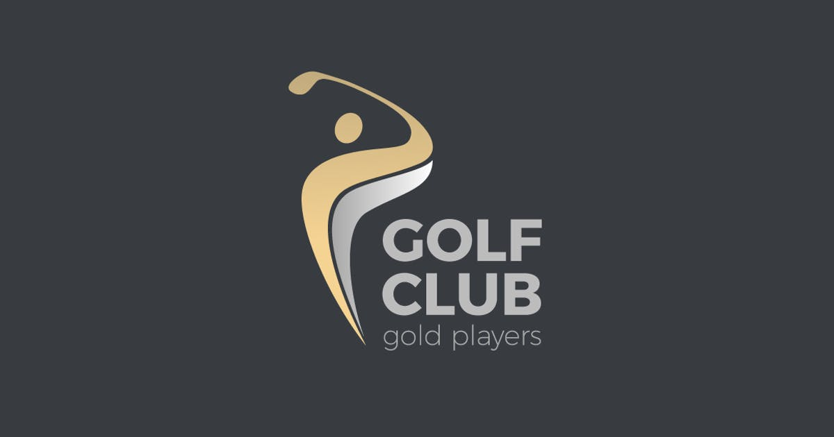 Download Logo Golf club Player hits ball by Sentavio