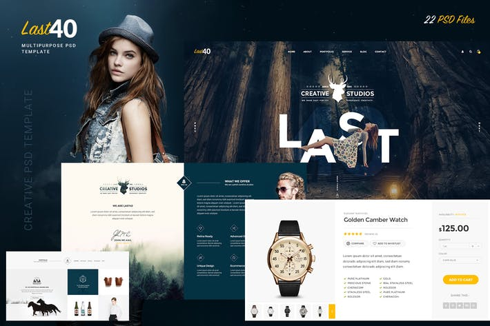 Thumbnail for Last40 - Creative PSD Template