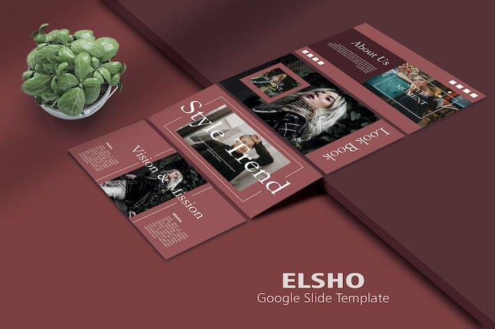 Thumbnail for ELSHO - Мода Google Слайд Шаблон